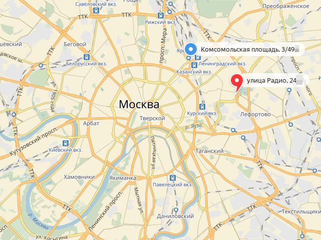 Москва Проезд Комсомольской площади д.3 строение 49