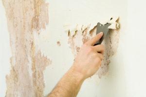 снять старую краску со стен