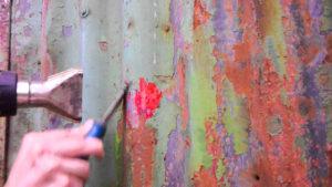 удаление краски с металла