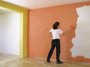 как отмыть краску со стен