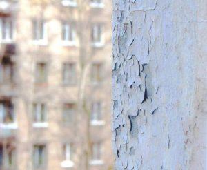 как очистить фасад от краски