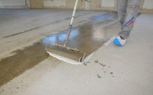 чем очистить бетонный пол от масла