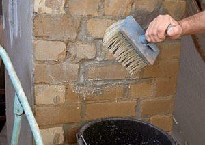 чистка фасада от цементного налёта