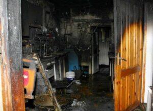 последствия пожара в жилом здании